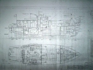 The original blue print for our boat.